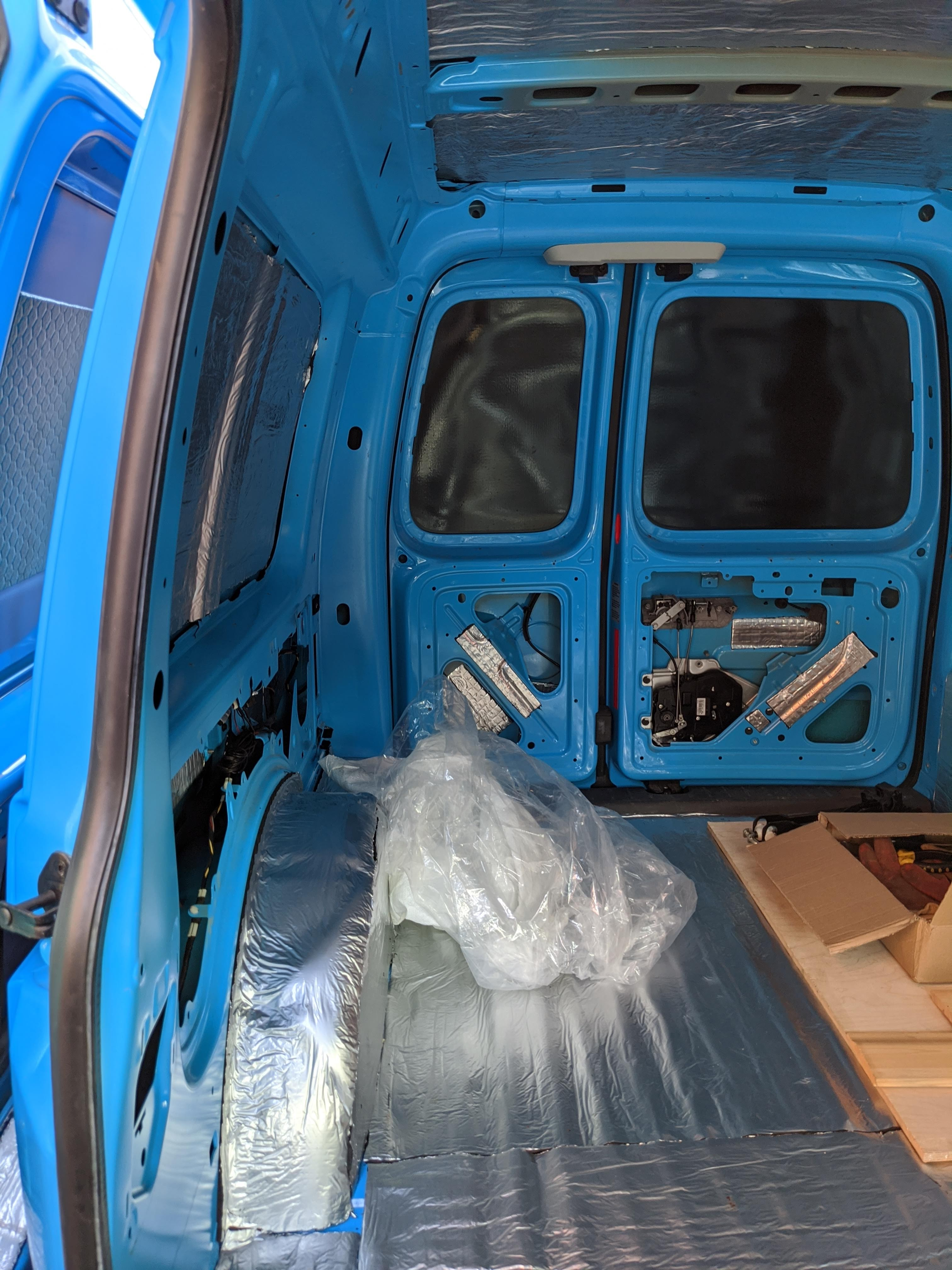 VW Caddy Camper Conversion insulation and sound proofing