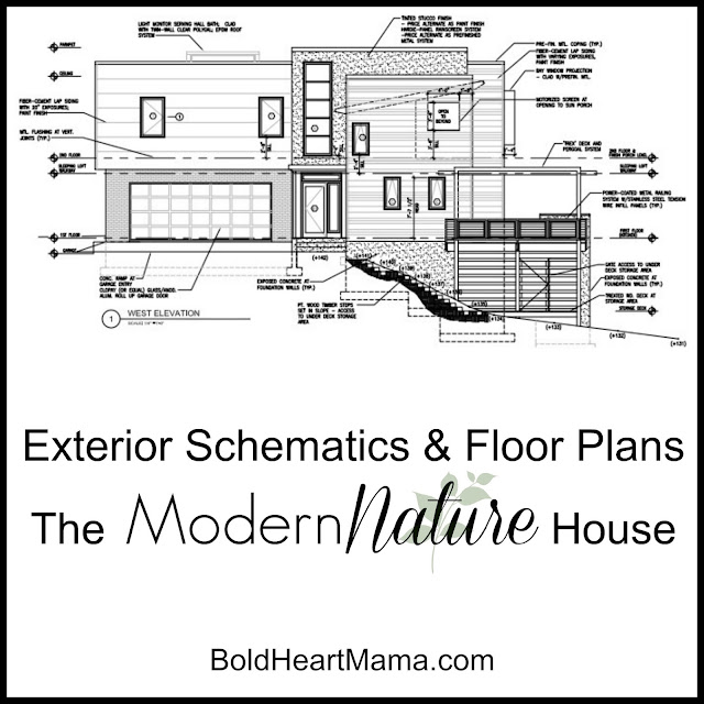 BoldHeartMama: Updated Schematics for our Modern Nature Home ...