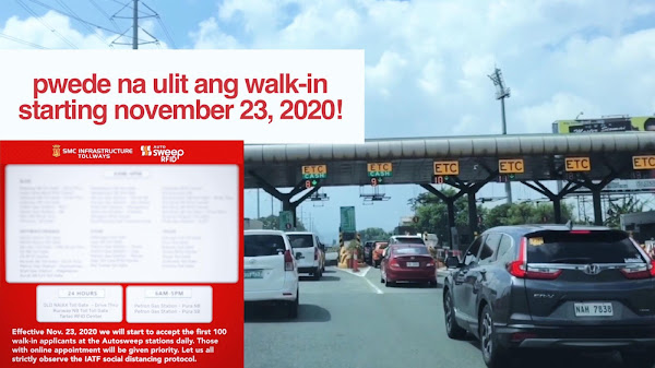 AUTOSWEEP RFID starts accepting WALK-IN APPLICANTS starting November 23, 2020!
