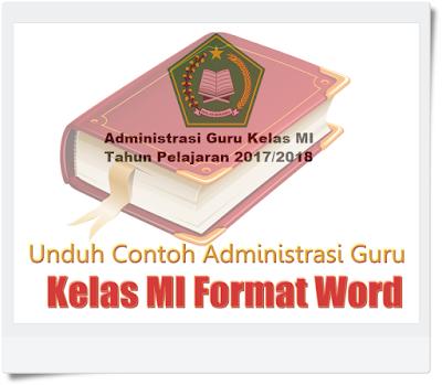 Unduh Contoh Administrasi Guru Kelas MI Format Word