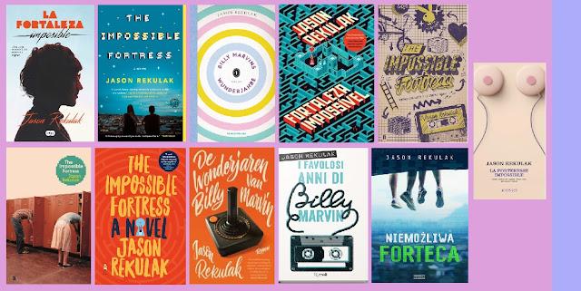 portadas de la novela juvenil romántica La fortaleza imposible, de Jason Kekulak