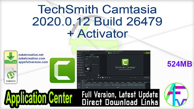 TechSmith Camtasia 2020.0.12 Build 26479 + Activator