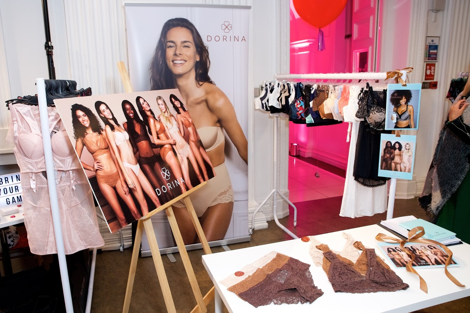 Dorina underwear display at very event