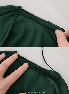 diy sewing elastic into brief bikini swimsuit leg opening diy tutorial