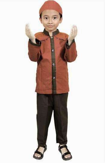 Contoh desain busana muslim anak laki-laki modern