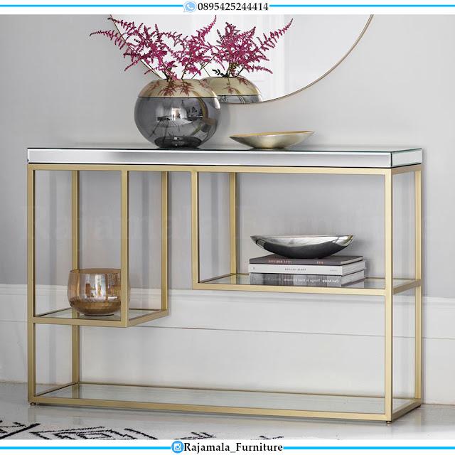 Meja Konsul Minimalis Jepara Luxury Full Glass Modern Design RM-0521