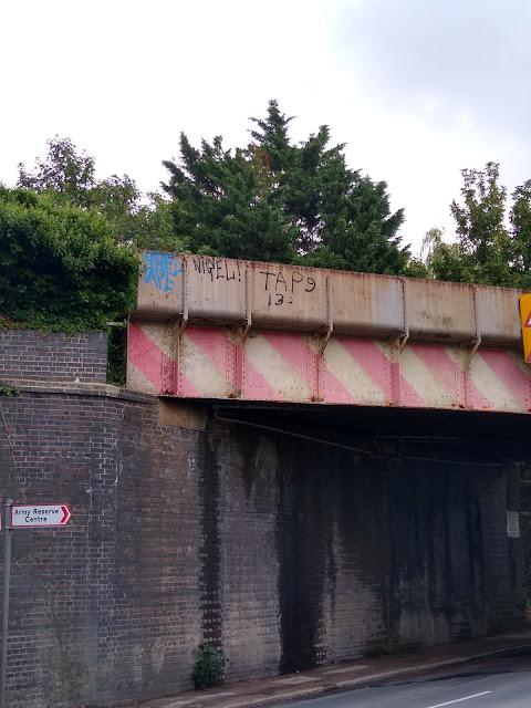 Nigel Tape on the Railway Bridge across Coldhams Lane
