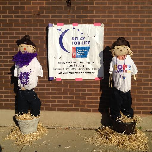 Barrington Relay for Life scarecrows