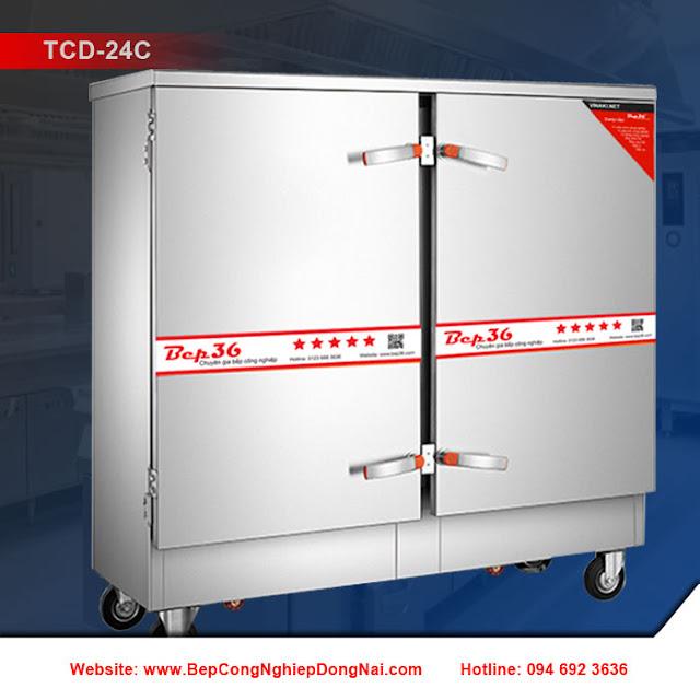 Tủ nấu cơm công nghiệp 24 khay dùng điện TCD-24C