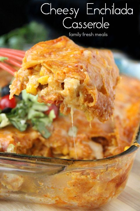 Cheesy Chicken Enchilada Casserole #recipes #dinnerrecipes #eveningdinnerrecipes #food #foodporn #healthy #yummy #instafood #foodie #delicious #dinner #breakfast #dessert #yum #lunch #vegan #cake #eatclean #homemade #diet #healthyfood #cleaneating #foodstagram