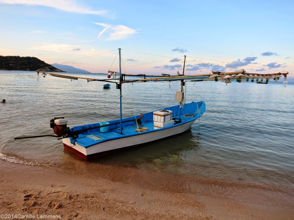 Fishing boat at Choengmon beach