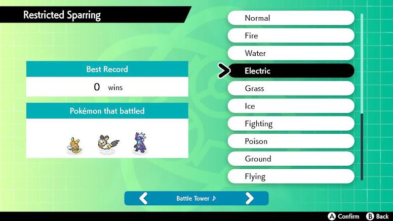 Restricted Sparring Pokémon Sword Shield