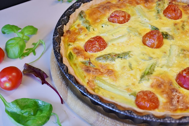 Quiche and Tomatoes