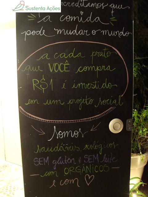 A cada prato vendido, R$ 1,00 é investido em projeto social