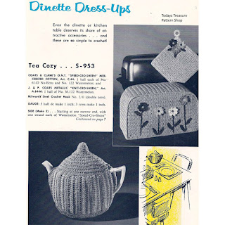 Crocheted Tea Cozy Pattern, Vintage 1960s