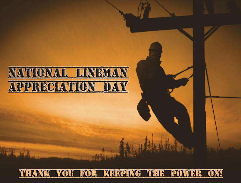 National Lineman Appreciation Day Wishes Pics