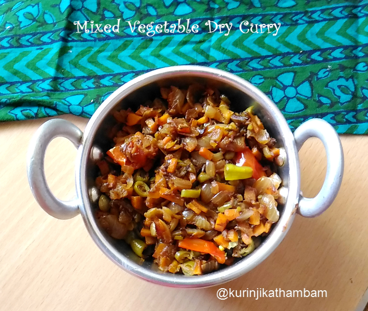 Mixed vegetable dry curry kurinji kathambam dry curries are very good for taking dishes while travelling mixed vegetable dry curry is very good side dish for chapathi roti and poori forumfinder Images
