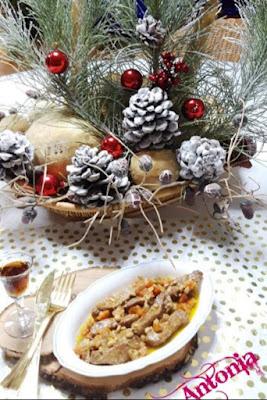 ¸.•´¸.•*´¨)♥ ¸.•*¨) ♥ (¸.•´♥ (¸.•` Tiras De Lomo En Salsa De Vino De Naranja Con Piñones