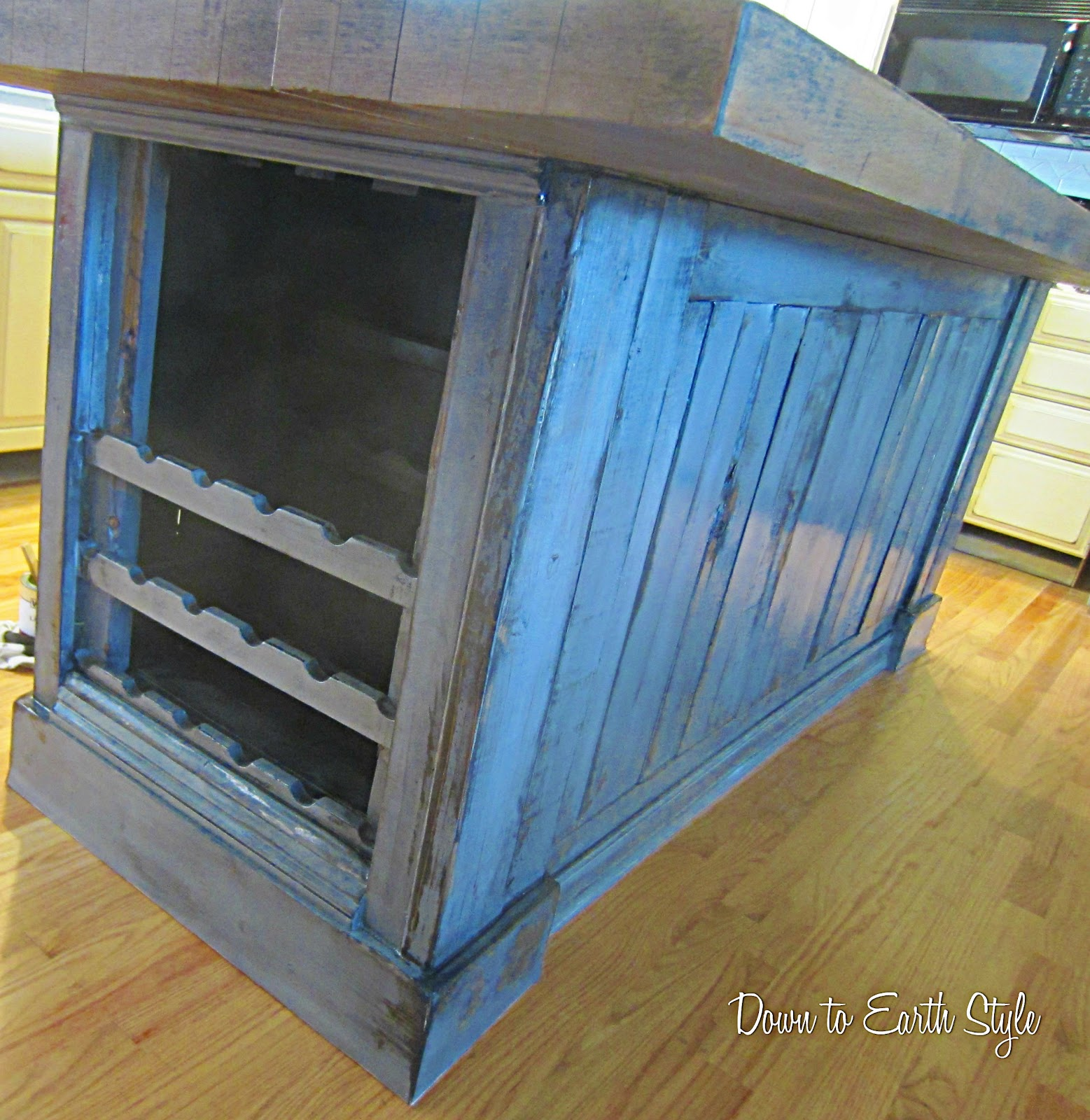 wine rack island kitchen barbie sets down to earth style rustic redo
