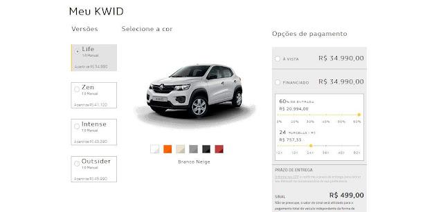 Renault passa a vender todos os veículos 100% ON-LINE