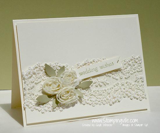 Stampingville Elegant Floral  Lace Wedding Card