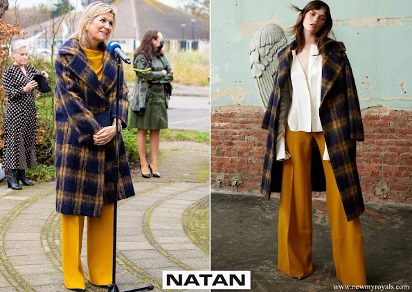 Queen Maxima's outfit is by Belgian fashion house Natan