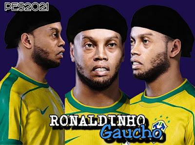 PES 2021 Faces Ronaldinho by Recoba98