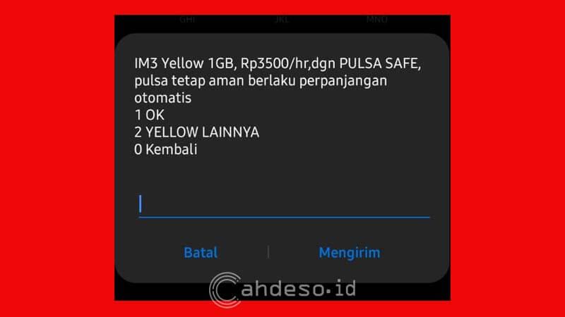 Paket Internet YELLOW 1GB