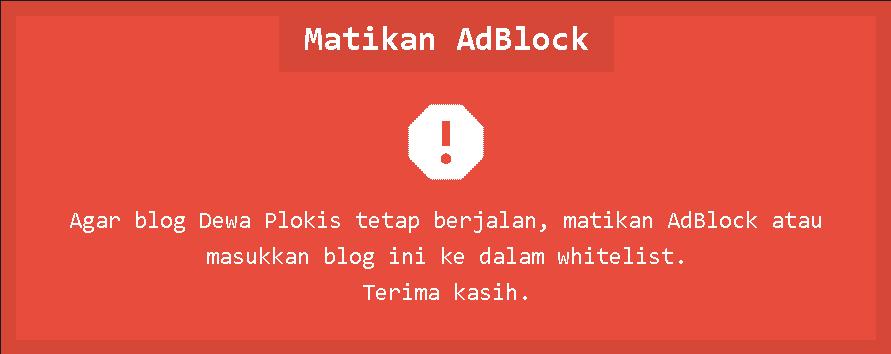 Cara Memasang Anti Adblock killer di Blogger blogspot