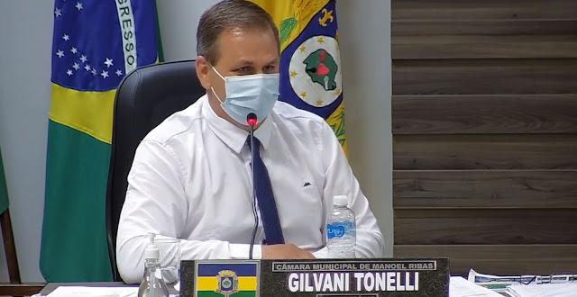Manoel Ribas: Tonelli pede que Município invista mais no combate ao coronavírus...
