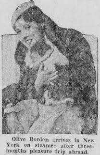 Olive Borden With Her Dog