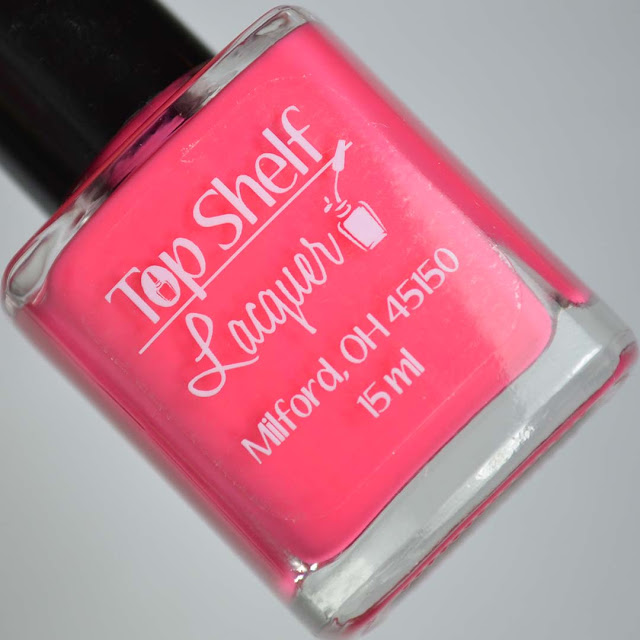 pink nail polish in a bottle