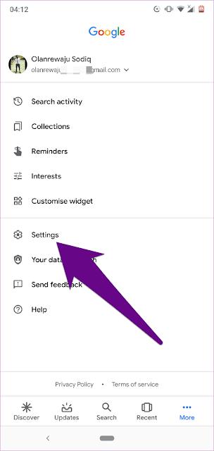 Cara Menghapus History Google Assistant di Android