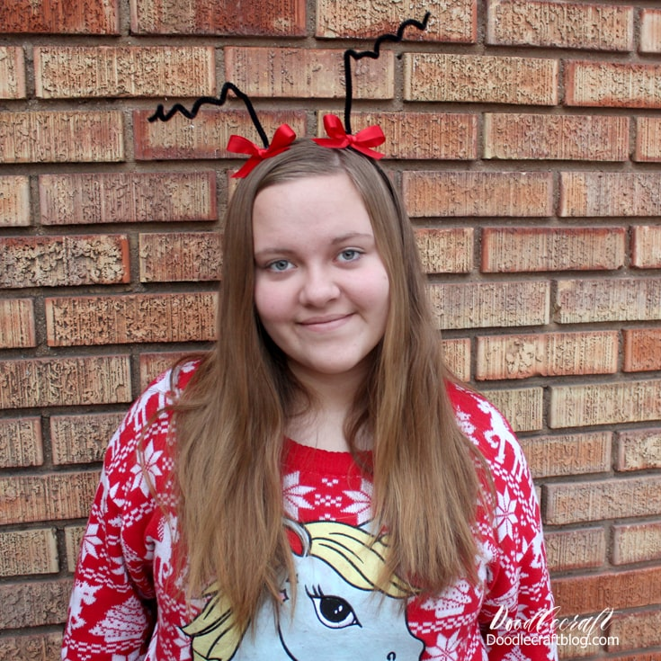 Cindy Lou Who headband from Dr. Suess Seuss How the Grinch Stole Christmas book.