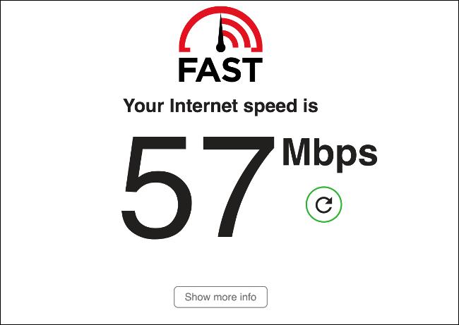 اختبار سرعة FAST.com