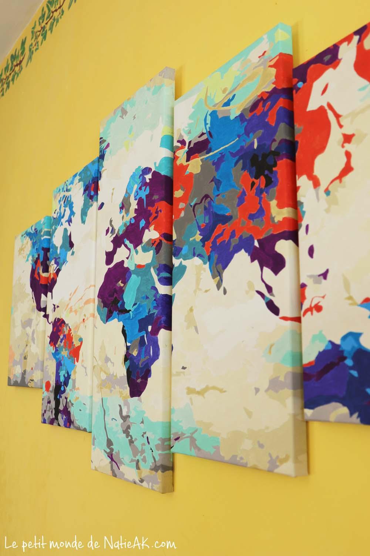 peinture par numéro le monde coloré