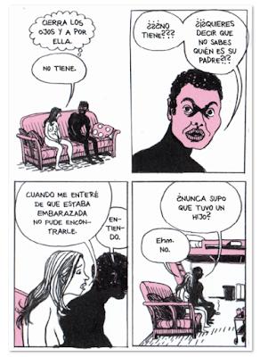Viñeta Cómo traté de ser una buena persona de Ulli Lust Comic novela gráfica La Cúpula