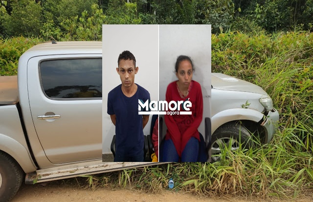 Policiais da 3ª CIA de Nova Mamoré recuperam caminhonete tomada em assalto no município de Alto Alegre dos Parecis