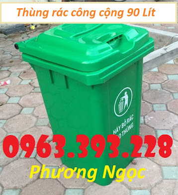 Thùng rác nhựa 90L nắp kín, thùng rác 90 Lít công cộng, thùng rác nắp kín TR90LNK6