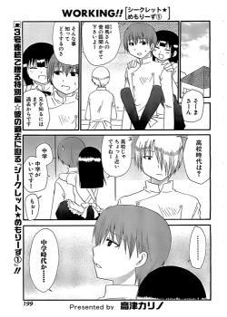 Working!! - Secret Memories Manga