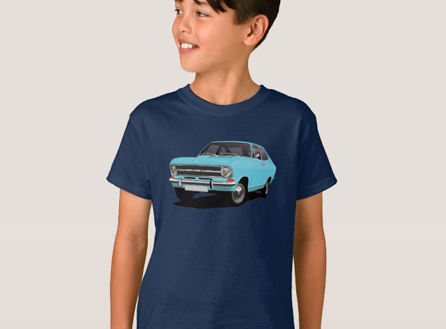 60's Opel Kadett B Coupé t-shirts for kids