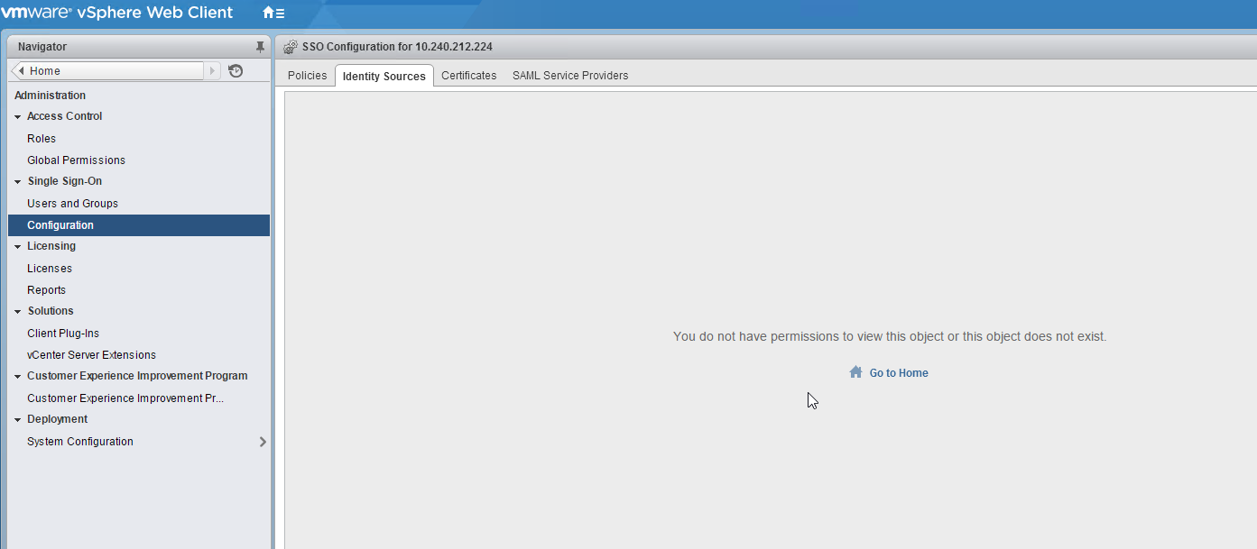 Share the knowledge: vSphere 6 vCenter error: You do not