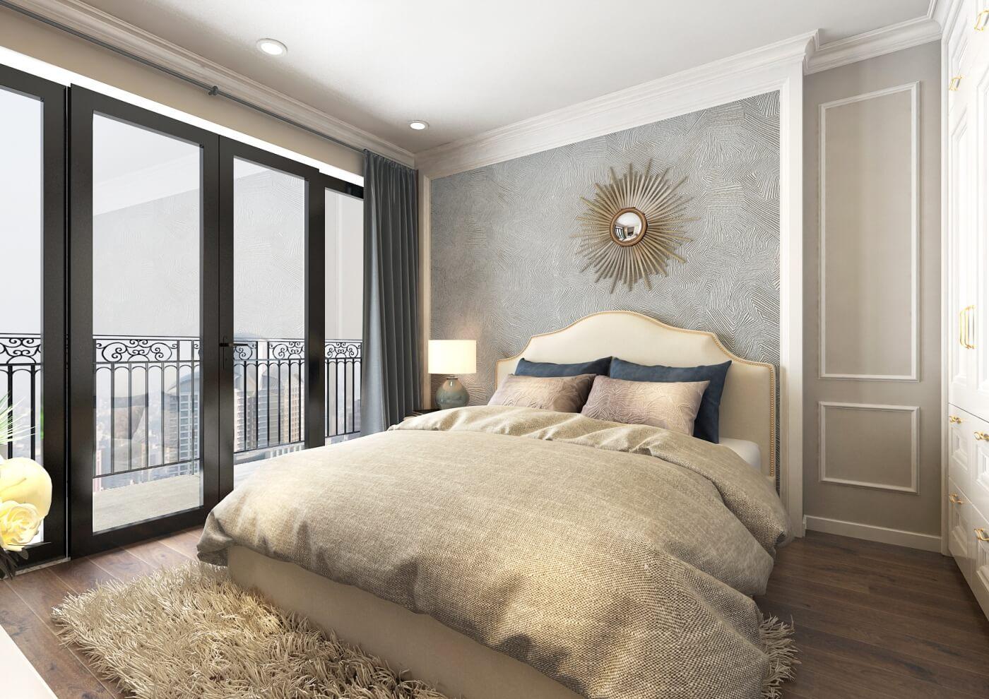 Phòng ngủ chung cư Sunshine Garden Minh Khai