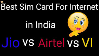Best sim card in India for Internet i