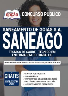 Apostila Concurso SANEAGO 2020 PDF e Impressa Cargo Técnico de Saúde Técnico em Enfermagem do Trabalho