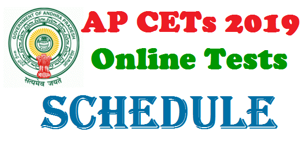 AP Common Entrance Test CETs 2019 Schedule Exam Dates Released by Andhra Pradesh State Council for Higher Education APSCHE. AP CETs 2019 Notifications important dates Get Details here.. 2019 AP Common Entrance Exams dates. Government of AP announced the Date of Examinations for Common Entrance Tests for EAMCET 2019  to get Admission into engineering Medical and Agriculture courses AP  ICET 2019 Integrated Common Entrance Test to get Admission into MBA MCA courses. AP B.Ed 2019 Notification Dates  to get Admission into Teacher Training Course for the Academic year 2019-20. Here is the information about different AP CETs . APSCHE Online CETs Schedule which are mean to get Higher Education such as Online EAMCET Online LAWCET Online ECET Online ICET. Students who are eagerly waiting  for the notifications mentioned above have plan for preparaion according to the schedule released by the APSCHE apsche-cets-schedule-common-entrance-test-exam-dates-notifications-detailed-information