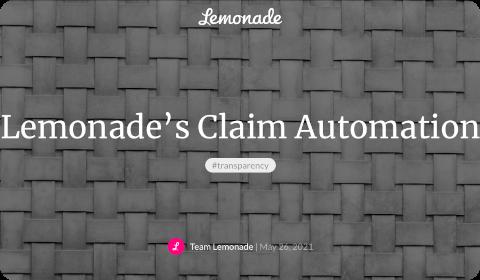 Lemonade – Automatisation dans la gestion de sinistre