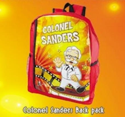 KFC Kiddie Party - Colonel Sanders Back Pack