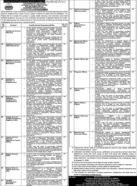 planning-and-development-board-lahore-jobs-2020-application-form