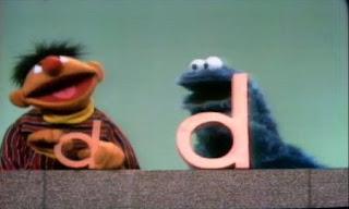 Ernie sings Dee, Dee, Dee with Cookie Monster. Sesame Street Do the Alphabet